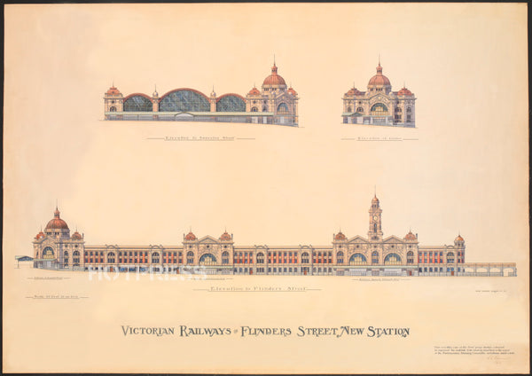 1900 Flinders Street Station Prize Winning Design