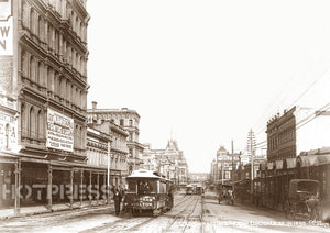 1895 Swanston Street looking south from Lonsdale Street