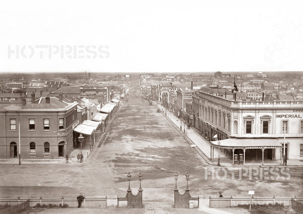 1870c Bourke Street Looking West