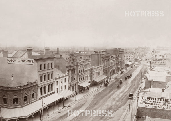 1883c Collins Street looking west from Swanston Street