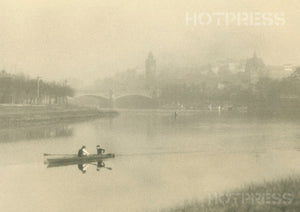 1922 Distant View of Melbourne From The Yarra