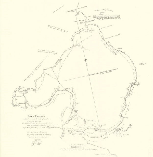 1803 Port Phillip Survey Map - Charles Grimes