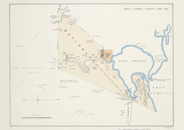 1836 Report on Disposal of Colonial Lands - Port Phillip