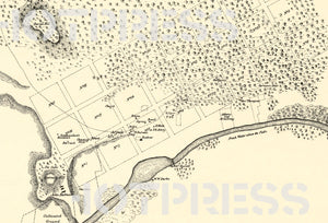 1837 Map Shewing the Site of Melbourne