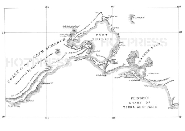 1802 Matthew Flinders Map of Port Phillip