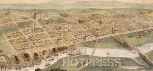 1855 Perspective of Melbourne
