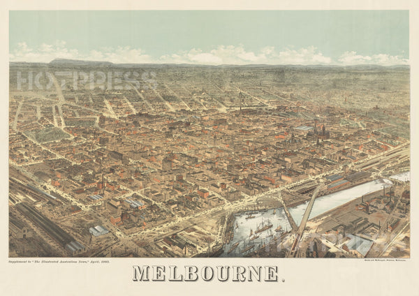 1882 Perspective of Melbourne