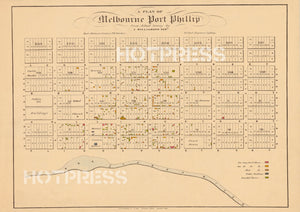1839 Plan of Melbourne