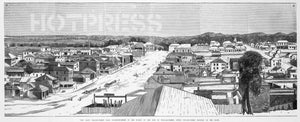 1841 Melbourne Panoramic Drawing