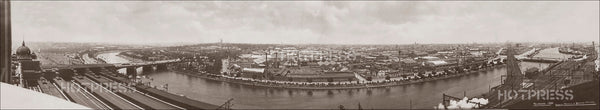 1920 Princes Bridge to Queens Bridge Panorama