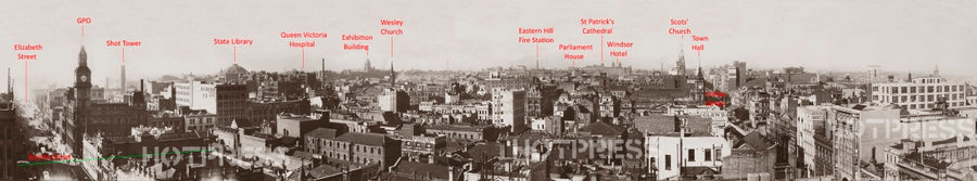 1920 Elizabeth Street to Collins Street Panorama