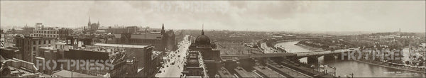 1920 Flinders Street and Princes Bridge Panorama