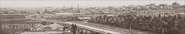 1870 Melbourne from the South Panorama