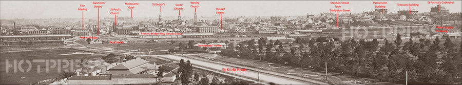 1870c Melbourne from the South Panorama
