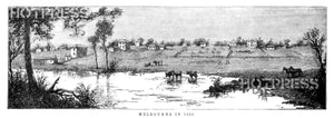 1838 Melbourne from the south across the Yarra
