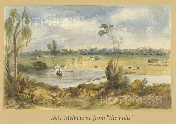 1837 Melbourne from The Falls
