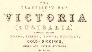 1856 Travellers' Map of the Colony of Victoria