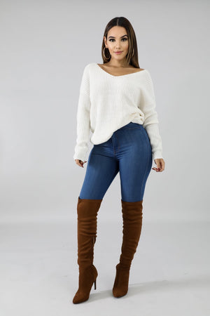 Ivory Reversible Sweater