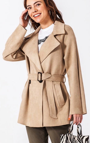 Sandy Trench Coat