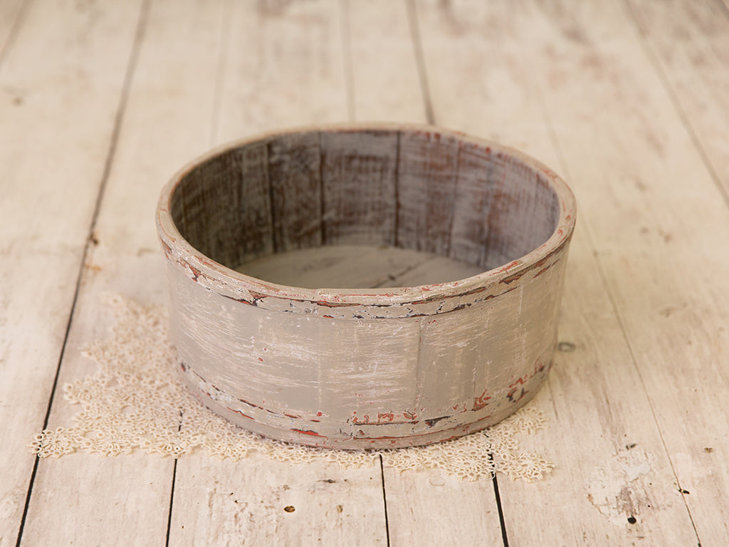 Greige Wooden Basin