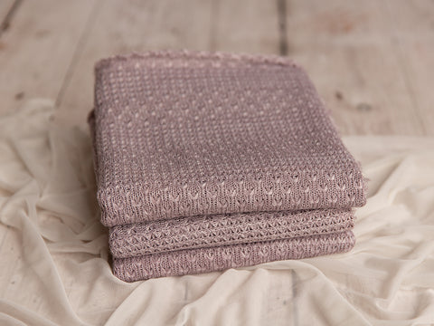 Dusty Lavender Sweater Knit Wrap