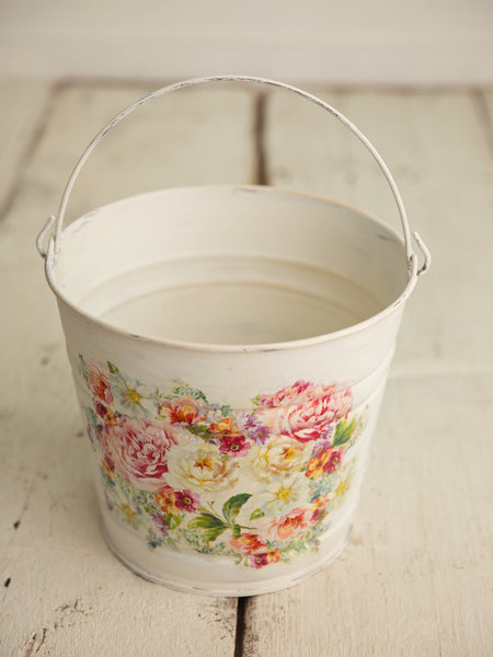 Water Color Bucket - Garden