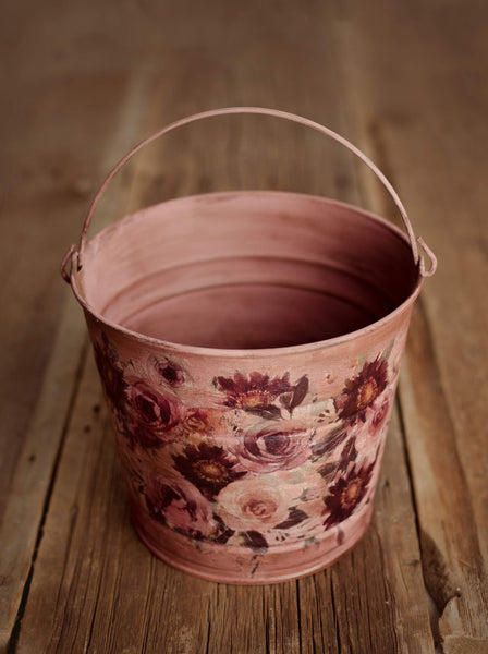 Water Color Bucket- Rose
