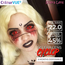 Load image into Gallery viewer, ColourVUE 22mm Sclera Lens Cyclop