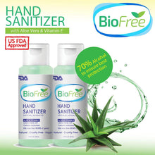 Load image into Gallery viewer, BioFree 50ml Hand Cleanser Aloe Vera & VItamin E (2pcs)