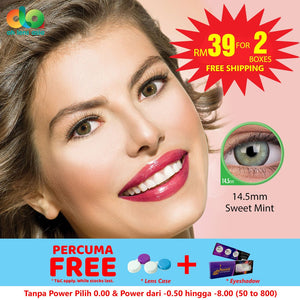 [BUY 1 FREE 1] ColourVUE Cheerful Sweet Mint 14.5mm