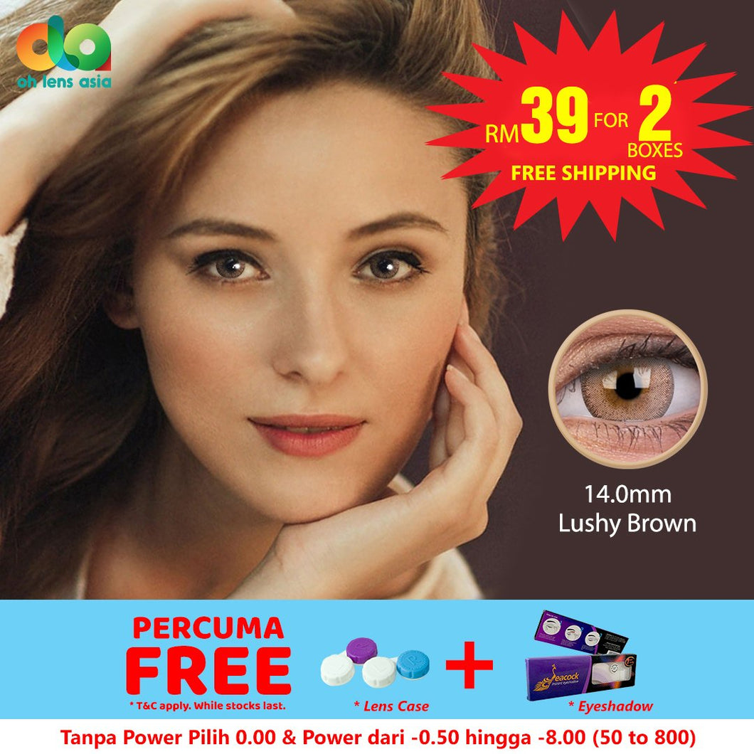 [BUY 1 FREE 1] ColourVUE Fizzy Lushy Brown 14mm