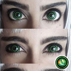 ColourVUE 17mm Mini Sclera Lens Green Goblin