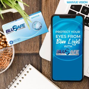 Maxvue BluSAFE 14.2mm Monthly Disposable (6pcs)