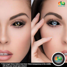 Load image into Gallery viewer, ColourVUE 22mm Sclera Lens Dark Angel