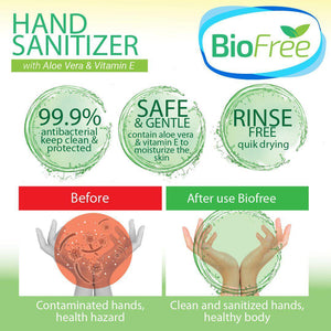 BioFree 50ml Hand Cleanser Aloe Vera & VItamin E (2pcs)