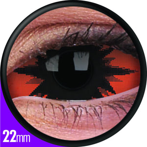 ColourVUE 22mm Sclera Lens Omega Red