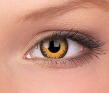 Load image into Gallery viewer, (US) ColourVUE Crazy Lens Orange Werewolf (Prescription)
