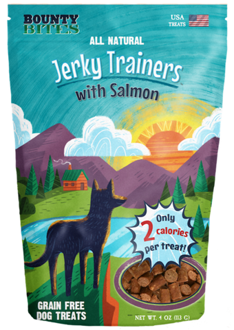 Bounty Bites Jerky Trainers with Salmon 4 oz