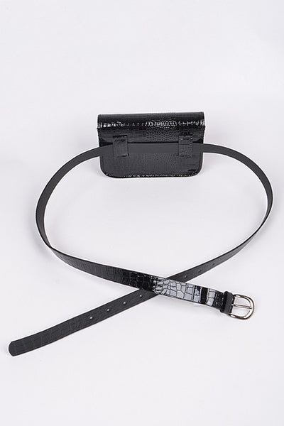RAVEN Faux Leather Fanny Pack