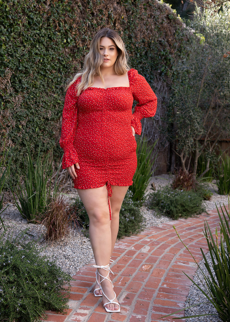 STARLET Off shouldered Red Dress