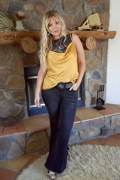 JAGGER Black Denim Flares
