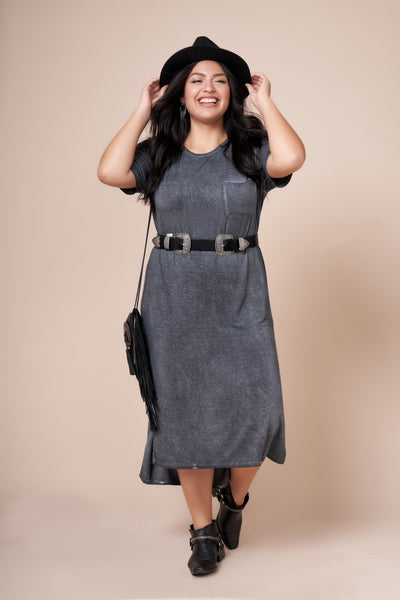 JESSIE Gray Ultimate Maxi Tee Dress