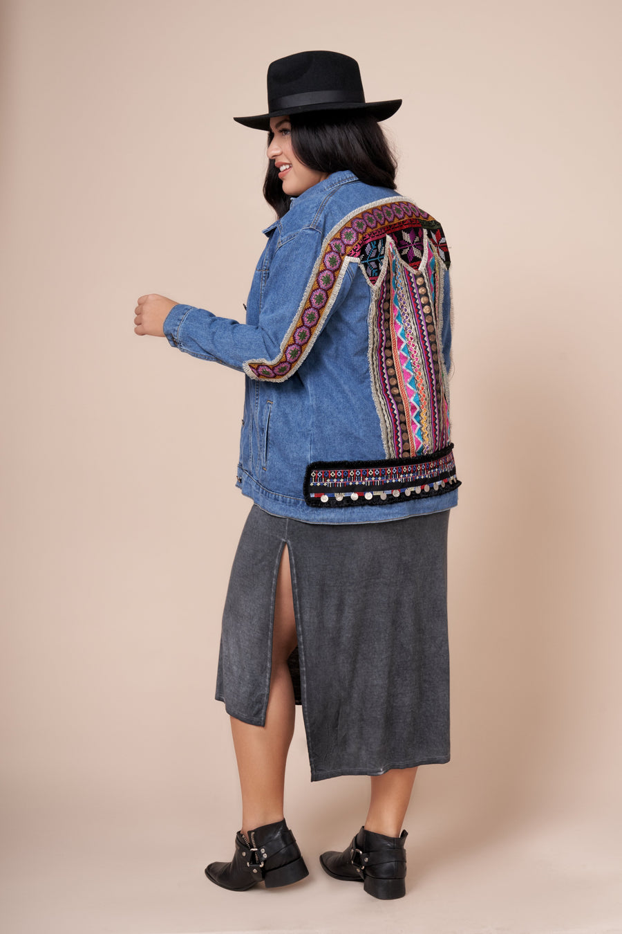ATLAS Embroidered Denim Jacket