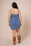SKYE Denim Spagetti Strap Dress