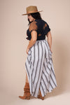 ALEX White Front Slit Pant