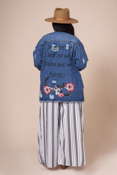 DESTINY Oversized Denim Jacket