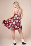 MIA Wine Floral Print Dress