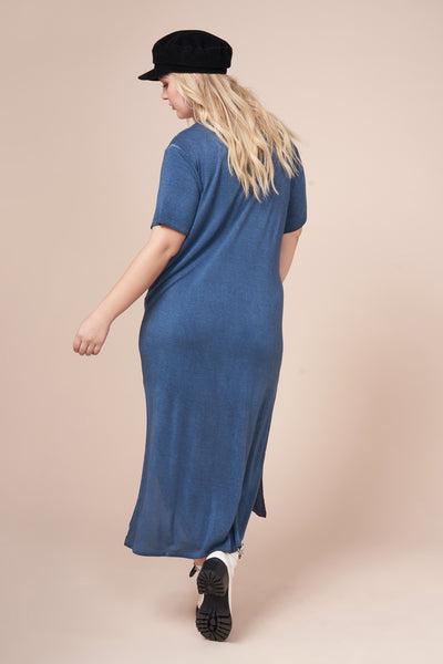 JESSIE  Navy Ultimate Maxi Tee Dress