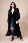 LONDON Black Velvet Maxi Jacket