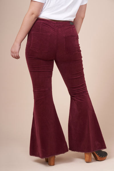 JOURNEE Maroon Flared Jean